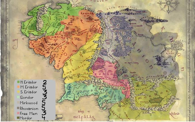 detailed map of middle earth