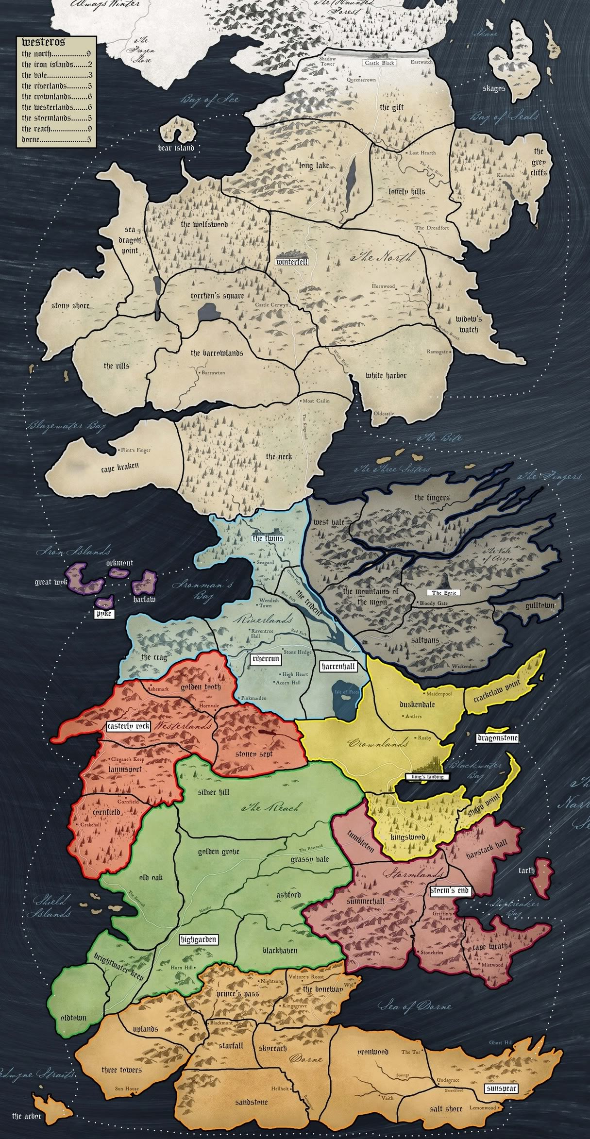 game of thrones houses map with 616 on Silver Shade Metal moreover Reach moreover The Westerlands also 616 additionally Iceland Vacations.